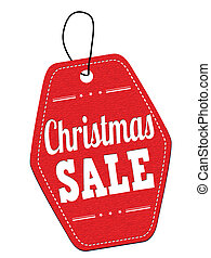 Christmas sale red leather label or price tag