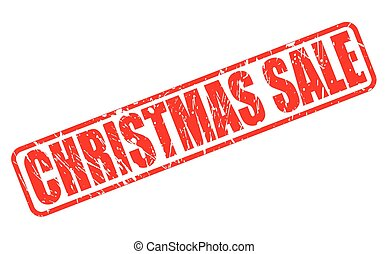 Christmas sale red stamp text