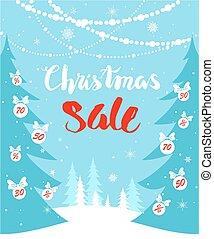 Christmas sale seasonal card