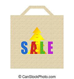 Christmas sale shopping bag