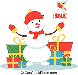 Christmas sale snowman