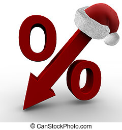 Christmas Sale - Special offers symbolized by percent sign ...