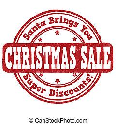 Christmas sale stamp