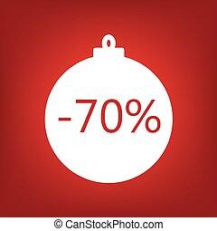 christmas sale sticker tag