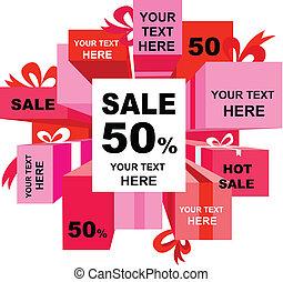 Christmas sale tags - Christmas sale poster with many design...