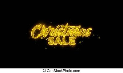 Christmas Sale Typography Written with Golden Particles...