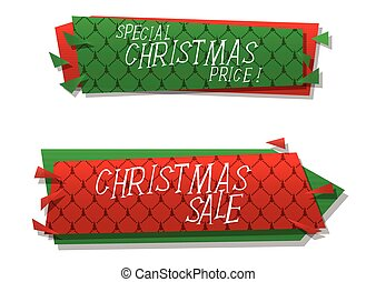 Christmas sale vector banners