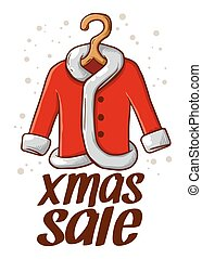 Christmas Sale With Santa Claus Coat
