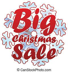 Christmas sales with snowflake.