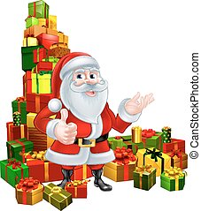 Christmas Santa and Gifts