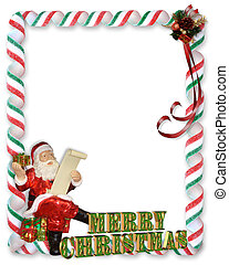Christmas Border Victorian Santa Image And Illustration Composition