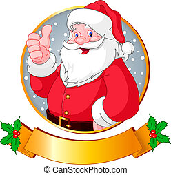 Christmas Santa - Christmas greeting card with Santa Claus