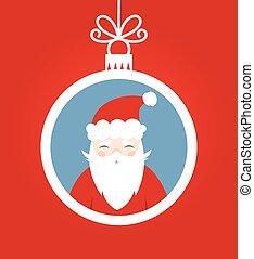 Christmas Santa Claus bauble