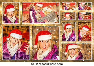 Christmas Santa Claus collage