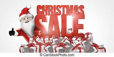 christmas santa claus design. christmas sale gift boxes and santa claus.