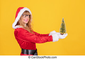 christmas santa claus isolated on background