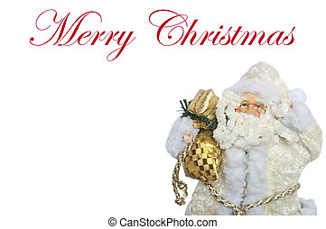 Christmas Santa Claus isolated on white background