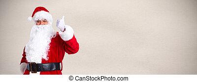 Santa claus - Christmas Santa claus portrait over gray ...