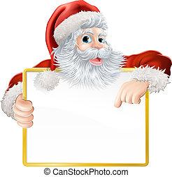 Christmas Santa Claus Sign