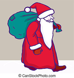 Christmas. Santa Claus Vector Illustration - Christmas...