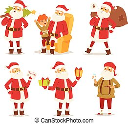 Christmas santa claus vector illustration.