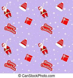 Christmas Santa Claus Violet Pattern For Wrapping Paper
