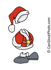 Christmas Santa Costume Vector