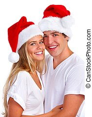 Christmas Santa couple.