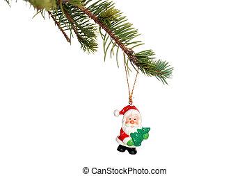 christmas santa decoration branch