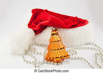 Christmas santa hat isolated on white background.