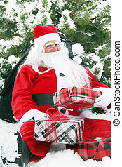 Christmas Santa in the snow