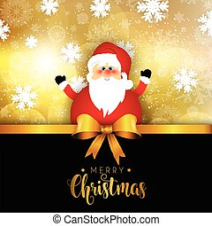Christmas santa on snowflake background 1411