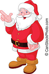Christmas Santa pointing - Happy Christmas Santa Claus...