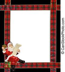 Christmas Santa ribbons border
