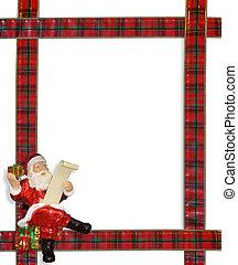 Christmas Santa ribbons frame