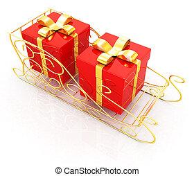 Christmas Santa sledge with gifts