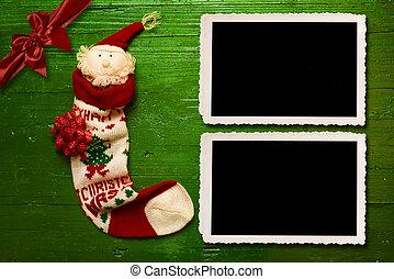 Christmas Santa two photo frames