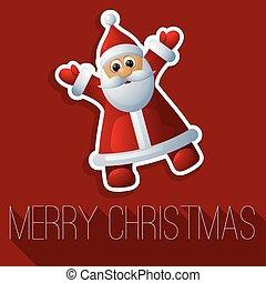 Christmas Santa vector card