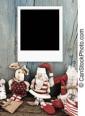 Christmas Santa with one photo frame