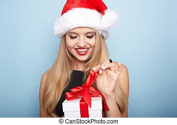 Christmas santa woman.