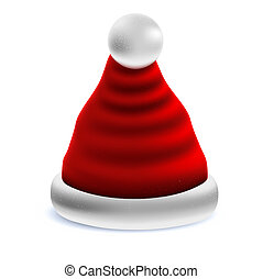 christmas santa's hat vector