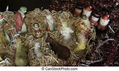 Christmas scene of Christ's life - Christmas nativity scene....