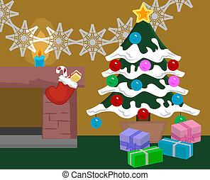 christmas scene - A Christmas Scene