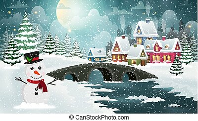 Christmas Scene Winter Landscape