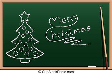 Christmas School Holidays Chalk Board