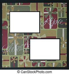 Christmas Scrapbook Frame Template