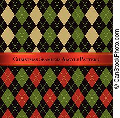 Christmas Seamless Argyle Pattern Design Set 5