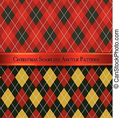 Christmas Seamless Argyle Pattern Design Set 6