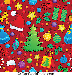 Christmas seamless background 1