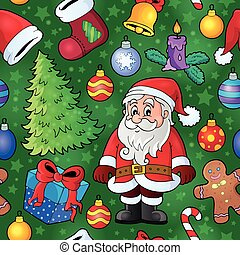 Christmas seamless background 8 - eps10 vector illustration.
